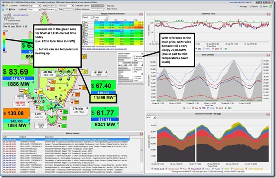 NSW Demand only 11,559MW just shy of midday market time