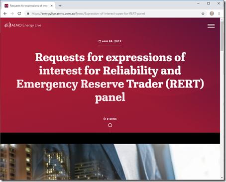 2019-08-09-AEMO-RERTcalled