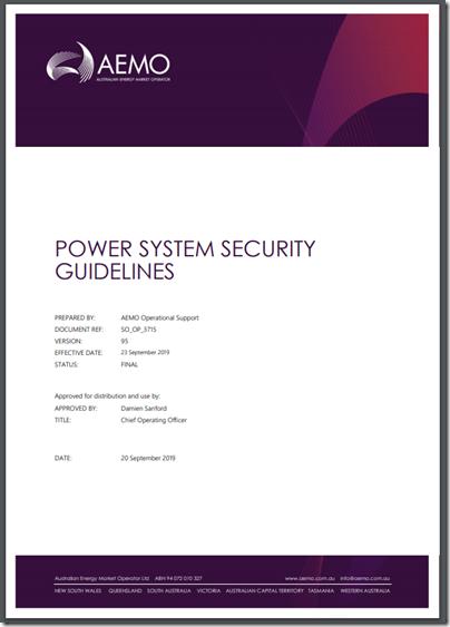 AEMO_PowerSystemSecurityGuidelines