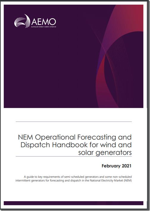 2021-02-11-AEMO-Handbook-WindandSolar-OpForecastingandDispatch
