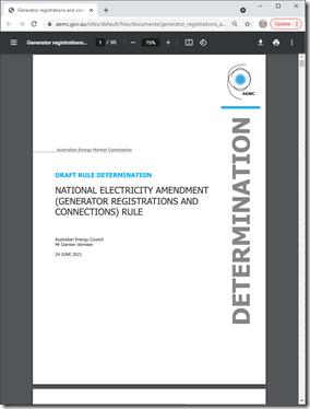 2021-06-24-AEMC-DraftDetermination-GeneratorRegistrationConnections