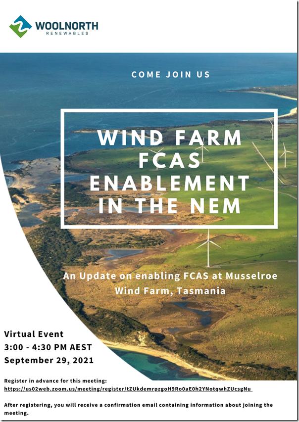 wind farm fcas enablement