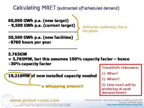 Calculating MRET