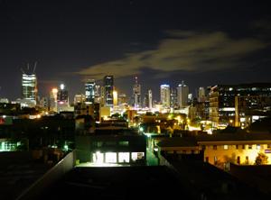 Brisbane CBD before earth hour